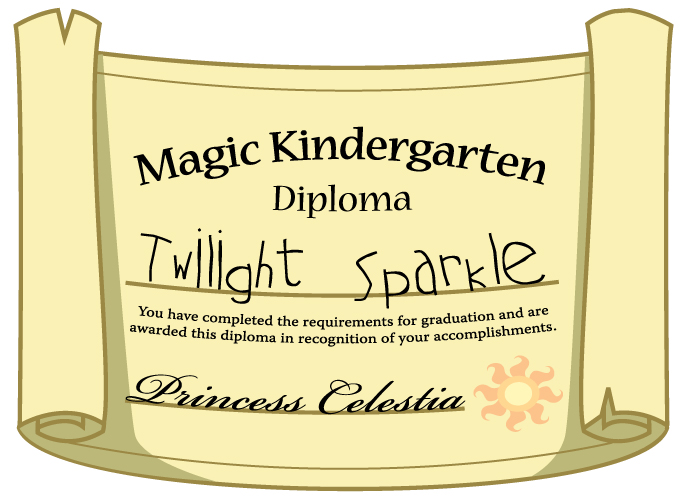 MLP Fan Art - Magic Kindergarten Diploma